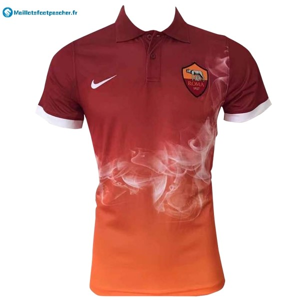 Polo Foot Pas Cher AS Roma 2017 2018 Orange