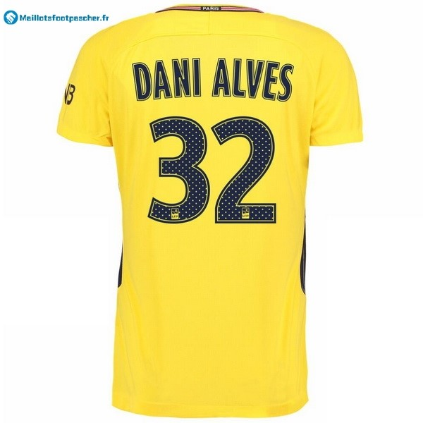 Maillot Foot Pas Cher Paris Saint Germain Exterieur Dani Alves 2017 2018