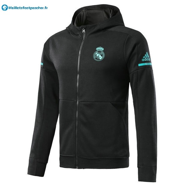 Sweat Shirt Capuche Real Madrid Enfant 2017 2018 Noir