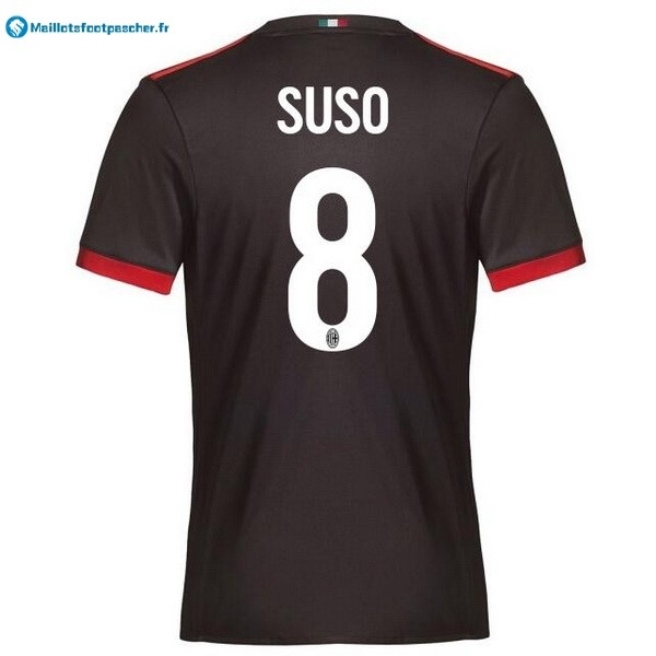 Maillot Foot Pas Cher Milan Third Suso 2017 2018