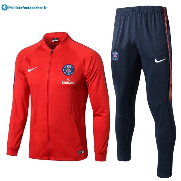 Survetement Foot Pas Cher Paris Saint Germain 2017 2018 Rouge Bleu Marine