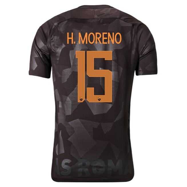 Maillot Foot Pas Cher AS Roma Domicile H.Moreno 2017 2018
