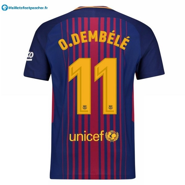 Maillot Foot Pas Cher Barcelona Domicile O.Dembele 2017 2018