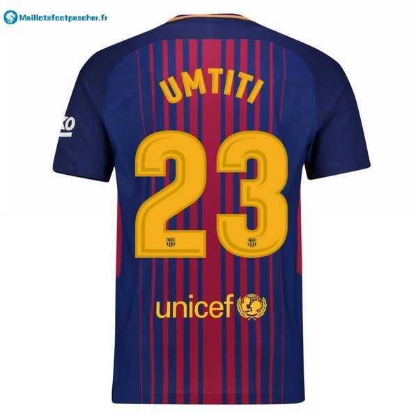 Maillot Foot Pas Cher Barcelona Domicile Umtiti 2017 2018