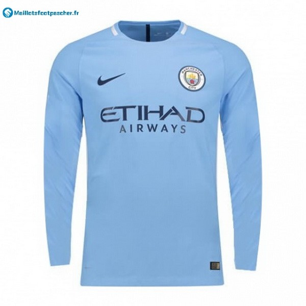 Maillot Foot Pas Cher Manchester City Domicile ML 2017 2018