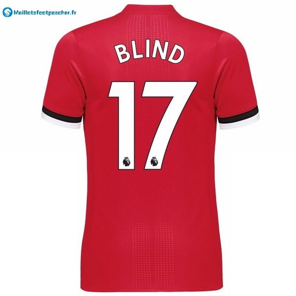 Maillot Foot Pas Cher Manchester United Domicile Blind 2017 2018