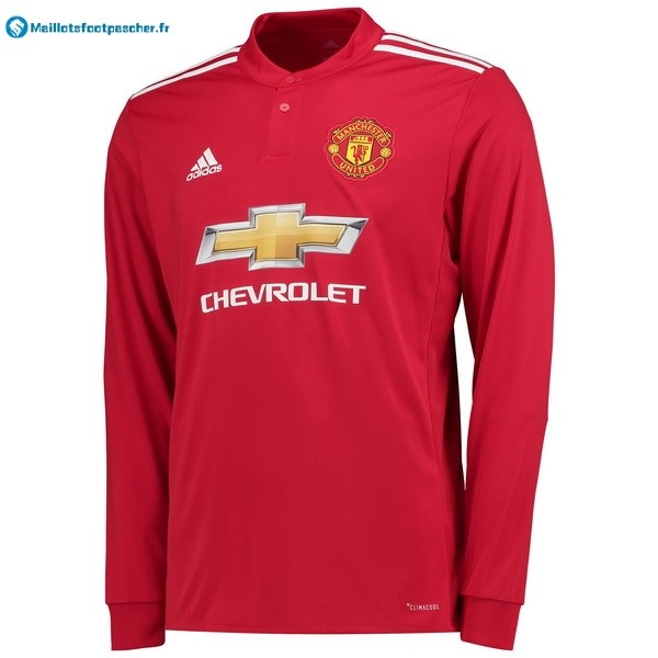 Maillot Foot Pas Cher Manchester United Domicile ML 2017 2018