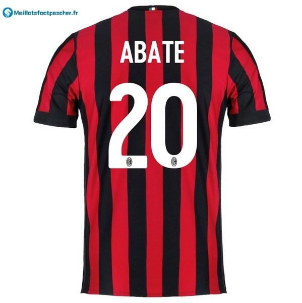 Maillot Foot Pas Cher Milan Domicile Abate 2017 2018