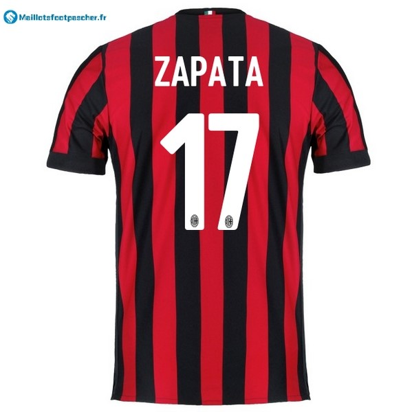 Maillot Foot Pas Cher Milan Domicile Zapata 2017 2018