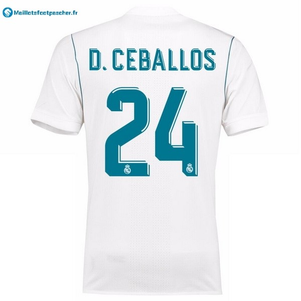 Maillot Foot Pas Cher Real Madrid Domicile D.Ceballos 2017 2018