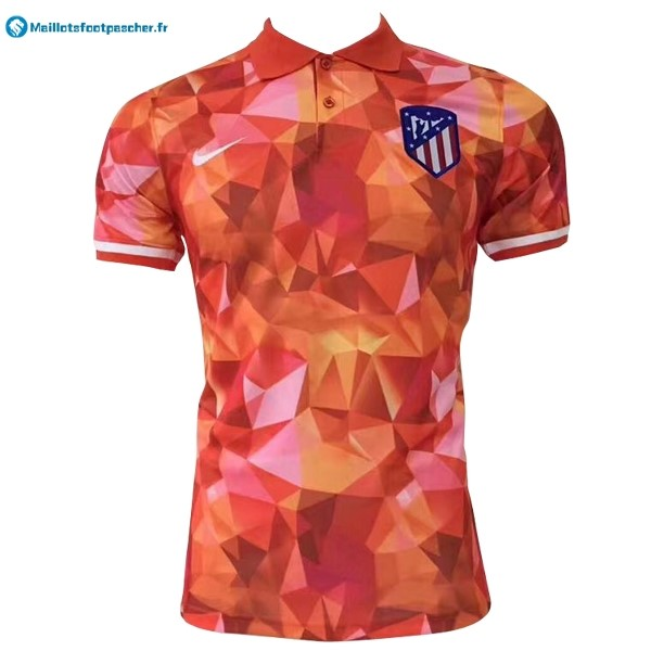Polo Foot Pas Cher Atlético de Madrid 2017 2018 Orange
