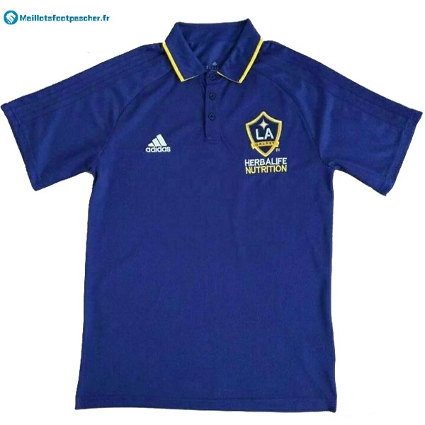 Polo Foot Pas Cher Los Angeles Galaxy 2017 2018 Bleu