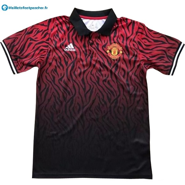 Polo Foot Pas Cher Manchester United 2017 2018 Noir Rouge