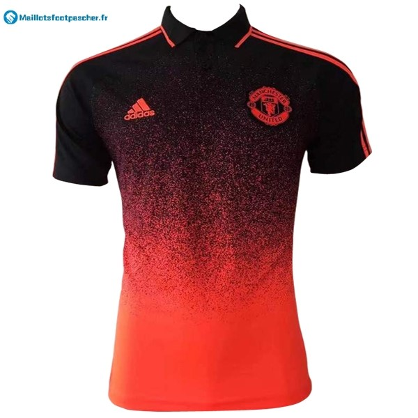 Polo Foot Pas Cher Manchester United 2017 2018 Orange