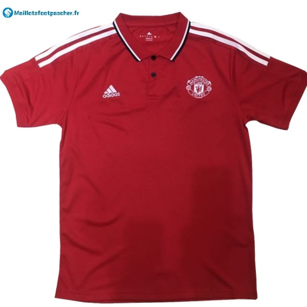 Polo Foot Pas Cher Manchester United 2017 2018 Rouge Blanc