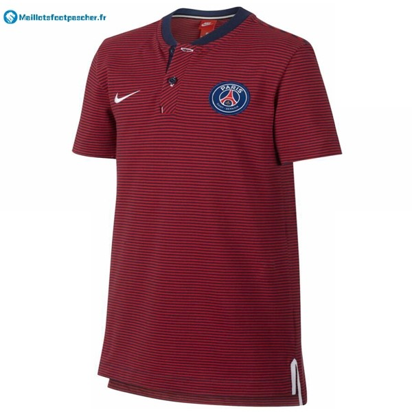 Polo Foot Pas Cher Paris Saint Germain 2017 2018 Rouge