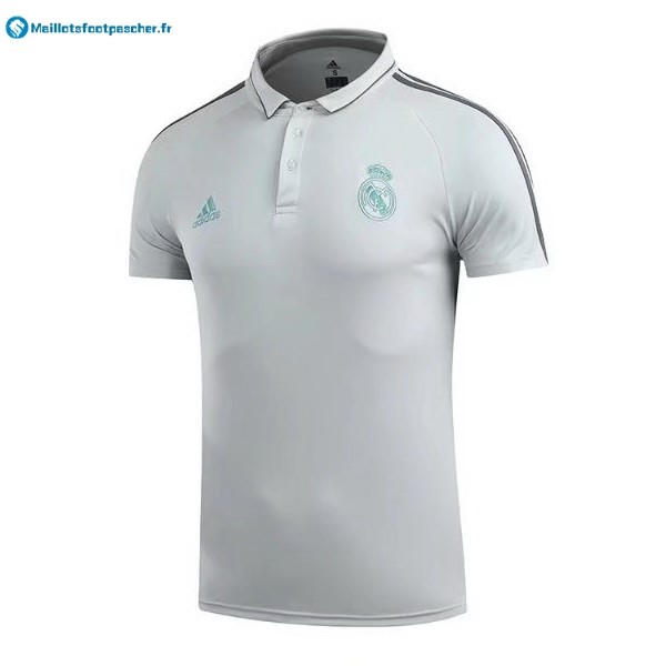 Polo Foot Pas Cher Real Madrid 2017 2018 Blanc Vert