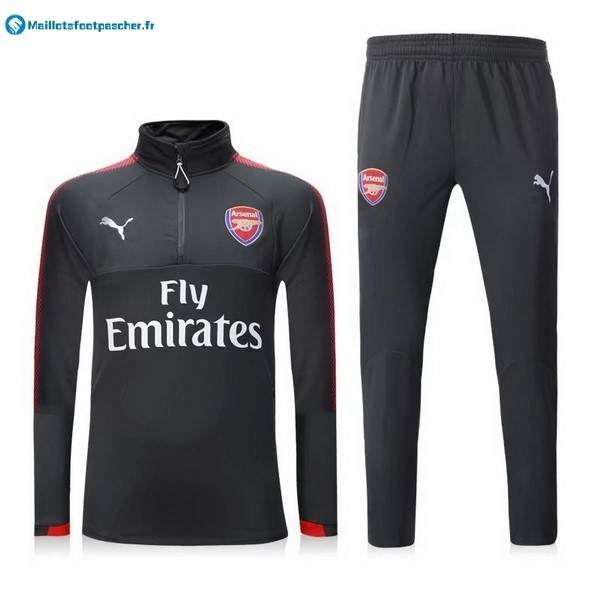 Survetement Foot Pas Cher Arsenal 2017 2018 Gris Rouge