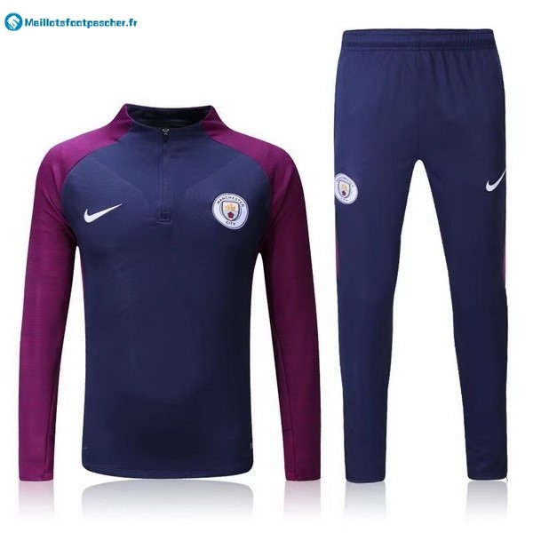 Survetement Foot Pas Cher Manchester City 2017 2018 Bleu Purpura