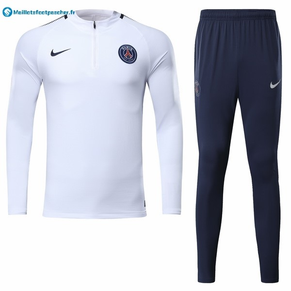 Survetement Foot Pas Cher Paris Saint Germain 2017 2018 Blanc