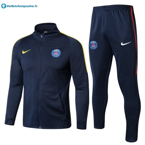Survetement Foot Pas Cher Paris Saint Germain 2017 2018 Bleu Jaune