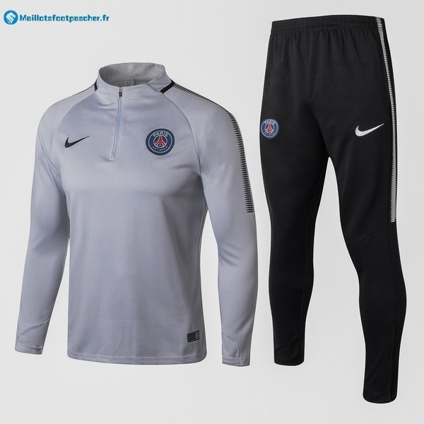 Survetement Foot Pas Cher Paris Saint Germain 2017 2018 Gris Clair