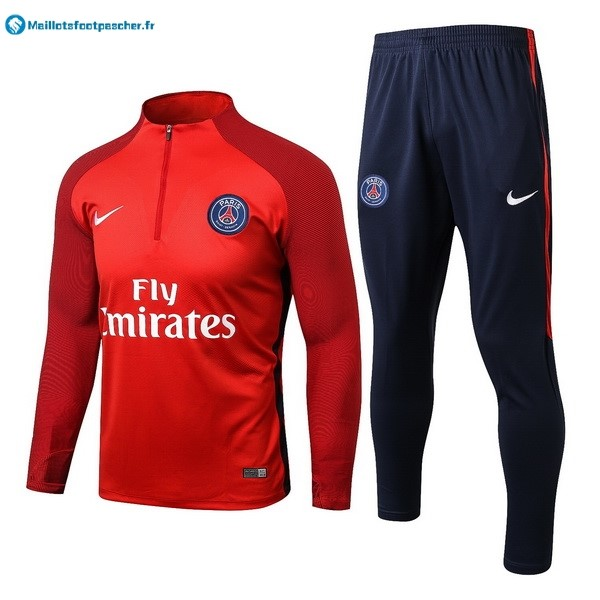 Survetement Foot Pas Cher Paris Saint Germain 2017 2018 Rouge