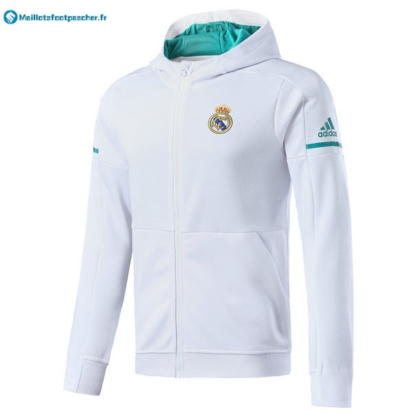 Sweat Shirt Capuche Real Madrid Enfant 2017 2018 Blanc