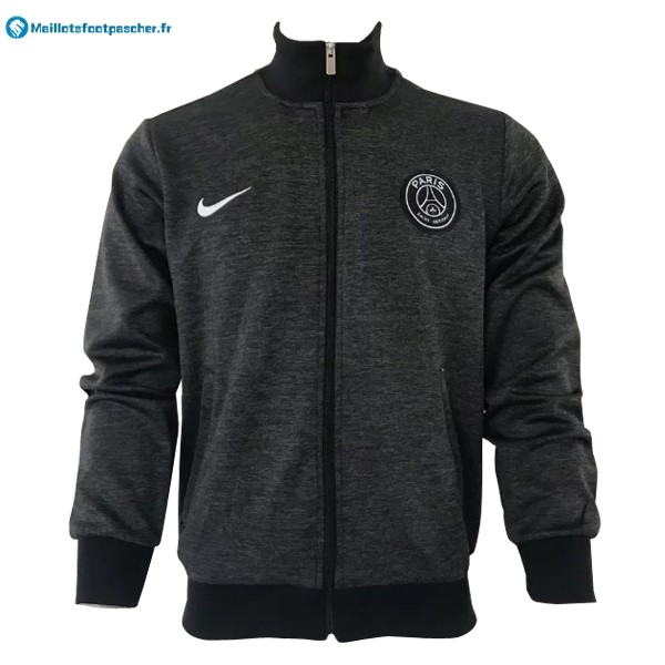Veste Foot Pas Cher Paris Saint Germain 2017 2018 Gris Marine